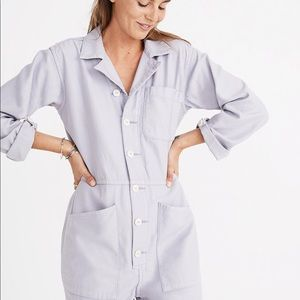 Madewell x As Ever coveralls, violet tint, sz M